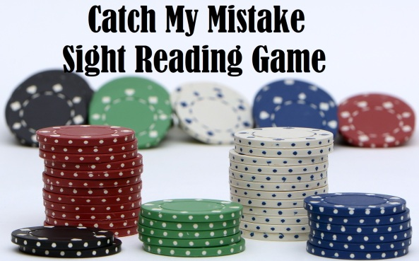 Catch My Mistake Sight Reading Game